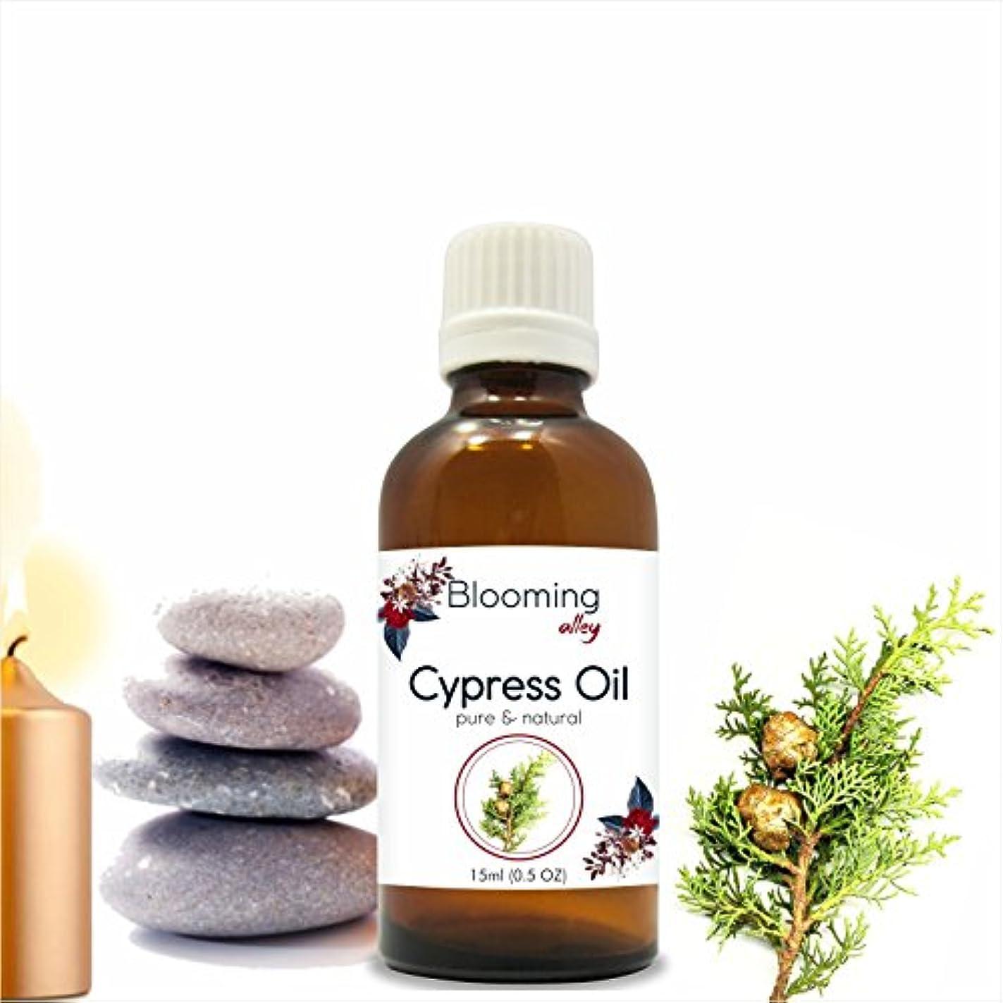 時代遅れやさしい典型的なCypress Oil (Cupressus Sempervirens) Essential Oil 15 ml or .50 Fl Oz by Blooming Alley