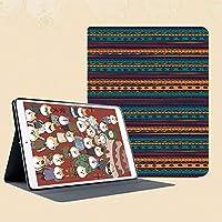 iPad mini 1 2 3 ケース 二つ折スタンド オートスリープ機能 iPad Mini3/2/1(初代第二三世代) 専用スマートカバー豊かなメキシコエスニックカラーの縞模様のレトロなアステカ柄