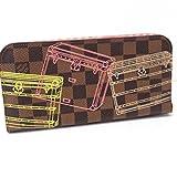 (ルイ・ヴィトン)LOUIS VUITTON N63025 ポルトフォイユ・アンソリット トランクプリント ダミエ 2つ折り長財布 長財布(小銭入れあり) ダミエキャンバス レディース 中古 ()