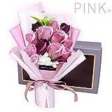 ソープフラワー 母の日 花 LangRay 花束 造花 プレゼント ギフト 石鹼花 石鹼フラワー 贈り物 ギフト 敬老の日 開店祝い 誕生日 記念日 お見舞い 感謝 お礼 ギフトボックス(pink)