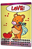 カレンダー Perpetual Calendar Fun FeliX Love Bear Walker Tin Metal Magnetic