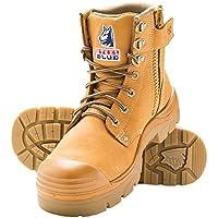 Steel Blue Mens Work Boots Argyle Wheat Zip Steel Toe Bump Cap 332152