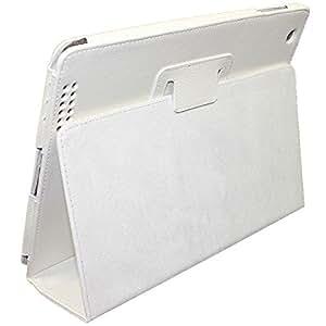 ipad2/ipad3/iPad4ケースカバー 第2/3/4世代 レザーケースカバー smart cover対応 (ホワイト&ipad2/ipad3/iPad4)