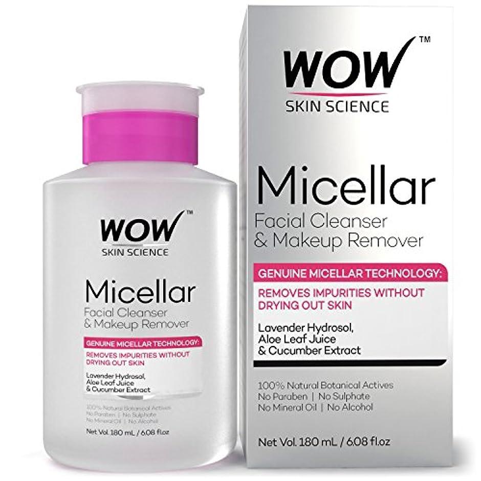 修道院慎重保証するWOW Micellar Facial Cleanser & Make Up Remover No Parabens, Sulphates, Mineral Oil, Alcohol & Synthetic Fragrance Water, 180mL