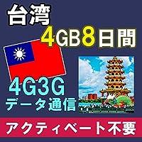 台湾 TAIWAN プリペイド SIM カード 高速データ通信 「海外通信専門店どこでもネット」 (4GB/8日間)
