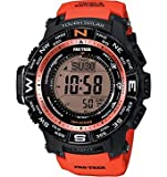 カシオ Casio Men's PRW-3500Y-4CR Atomic Digital Display Quartz Red Watch 男性 メンズ 腕時計 【並行輸入品】