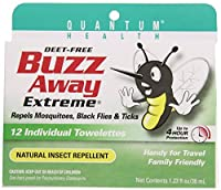 Buzz Away Insect Repellent, Citronellas Towelette, 12-Count Package (Pack of 4) by Quantum Research