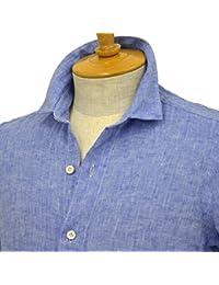 Finamore【フィナモレ】リネンシャツ SILVANO 010608 007 ブルー