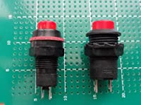 <押しボタン電源スイッチ通販・販売>押しボタン電源スイッチ<押しボタン電源スイッチ 赤 穴あけ13mm 跳ね返りタイプ>2個<swp-136>