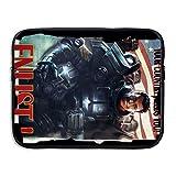 Patagonia ジャケット cyany Fall 4アウトBrotherhood of Steel Enlistポスター耐ショックノートブック携帯ケースバッグ 13 Inch ブラック