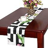 GGSXD テーブルランナー 素敵 りんごの花 クロス 食卓カバー 麻綿製 欧米 おしゃれ 16 Inch X 72 Inch (40cm X 182cm) キッチン ダイニング ホーム デコレーション モダン リビング 洗える