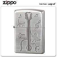 ZIPPO ジッポー ジッポライター CATS play the GUITAR キャットギター 猫 シルバー CATG-NB