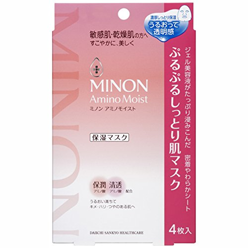 Best-Selling skin care cosmetics in Japan minon amino moist purupuru moist skin mask 22 ml � 4 pieces
