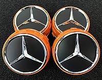 オレンジ4個メルセデス ベンツ Aクラス A45センターキャップ Mercedes-Benz AMG Center Cap Edition1 A 000 400 09 00 W204W205 W176
