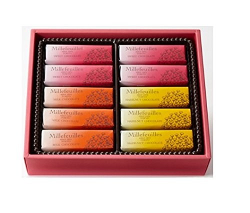 ベルン ミルフィユ 20コ入り ミルフィーユ チョコレート パイ 東京土産 人気 スイーツ 洋菓子 取り寄せ ギフト 母の日 スイートチョコレート ヘーゼルナッツチョコレート ミルクチョコレート