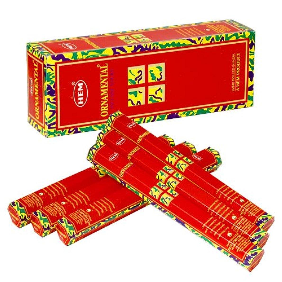 確立します硫黄夫婦HEM (ヘム) インセンス スティック へキサパック オーナメンタル 6角(20本入)×6箱 [並行輸入品]