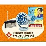 日立のなつかし昭和家電 [6.双方向式扇風機とトランジスタラジオ (「ポルカ」M-6021A/「ペギー」WH-817)](単品)
