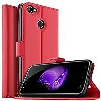 【YockTec】Galaxy On7 Prime ケース 手帳型 Samsung Galaxy On7 Prime カバー PUレザー ケース スタンド機能 財布型 カード収納 薄型軽量 全面保護 指紋防止 シンプル 人気 (レッド)