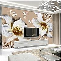 Xbwy 花写真壁画壁紙モダンなシンプルなベッドルームリビングルームテレビソファ背景-200X140Cm