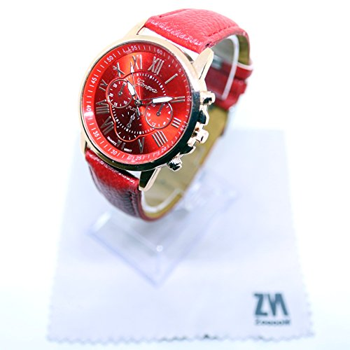 ZooooM 腕 時計 ROMAN LUXURY クロノグラフ ラウンド デザイン アナログ ウォッ...