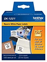 """Brother ql500labels-1000pk正方形1、"""" 1000Yield"""