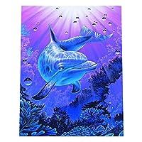 Baosity DIY 5D ダイヤモンド絵画 刺繍 クロスステッチ 壁掛け 装飾 イルカ 全10種 - 8#