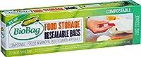 BioBag Resealable Compostable Food Storage Bags Quart 20 Count [並行輸入品]
