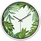 CSQ 緑の目の保護の壁時計、スタジオの子供の遊び場動物園遊び場の飲料屋のプールプールの壁時計サイレントメタルウォールクロック30-35CM ウォールクロックと掛け時計 (色 : 白, サイズ さいず : 30*30CM)