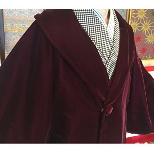 ベルベット ワイン 和装コート Lサイズ