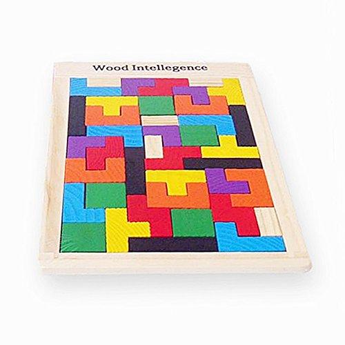 いちご舎本舗 知育玩具 木のおもちゃ 木製 立体 カラーパズル...