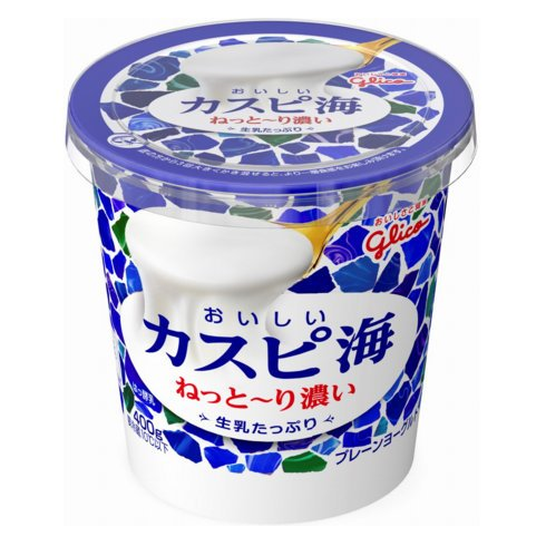 グリコ おいしいカスピ海 生乳たっぷり 400g 6個
