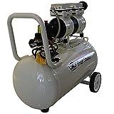 (Tool Stores) エアーコンプレッサー オイルレス 静音タイプ  カプラ エア 空気入れ コンプレッサー 空気入れ タイヤ 電動 38L 1.5HP