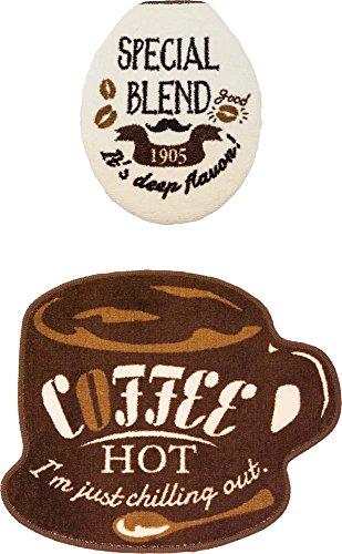 トイレマット コージードアーズ 2点セット U型 O型 便座用 ホットコーヒー(1セット)