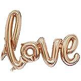 LAPOPNUT 風船 結婚式 結婚記念日 誕生日 パーティー 飾り付け 特大 バースデー アルミ バルーン 装飾 シャンパン色