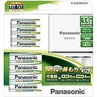 パナソニック 充電式EVOLTA ファミリーセット 単3形充電池 4本・単4形充電池 4本K-KJ53MLE44