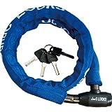 【おすすめセット】J&C ワイヤーロック φ18mm×1200mm ブルー 1個 + キャットアイ セーフティライト オムニファイブ リア用 1個