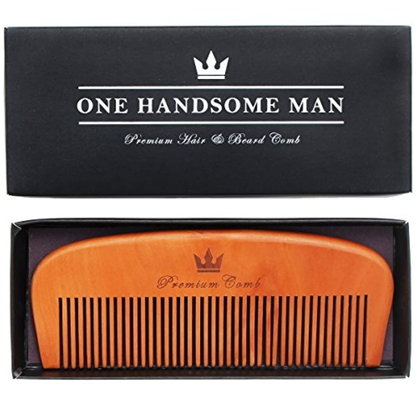 とまり木マトリックス担保Premium Hair and Beard Comb - Quality Design with Gift Box. Perfect for Beards, Mustaches, or Head Hair. [並行輸入品]