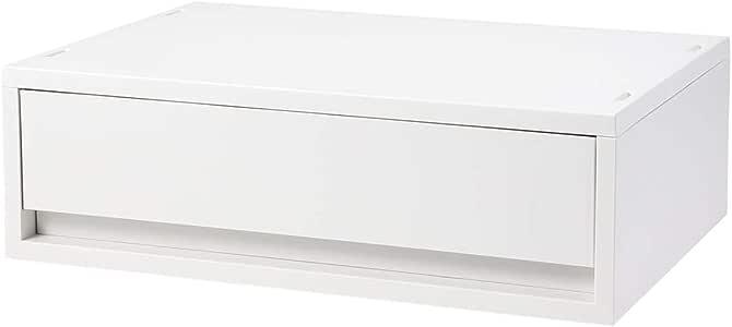 無印良品 ポリプロピレンケース・引出式・横ワイド・浅型・ホワイトグレー 約幅37×奥行26×高さ12cm 02108328