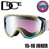 DICE ダイス 16JOK-7 JOKER-pM/PIPY3 WOODY 安心の日本正規品 スノボ スノーボード ゴーグル