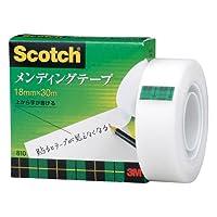 3M スコッチ メンディングテープ 18mm×30m 芯25mm 紙箱入り 810-1-18 【 2個 】