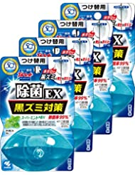 【まとめ買い】液体ブルーレットおくだけ除菌EX トイレタンク芳香洗浄剤 詰め替え用 スーパーミントの香り 70ml×4個
