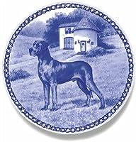 デンマーク製 ドッグ・プレート (犬の絵皿) 直輸入! Great Dane - blue / グレート・デーン - ブルー