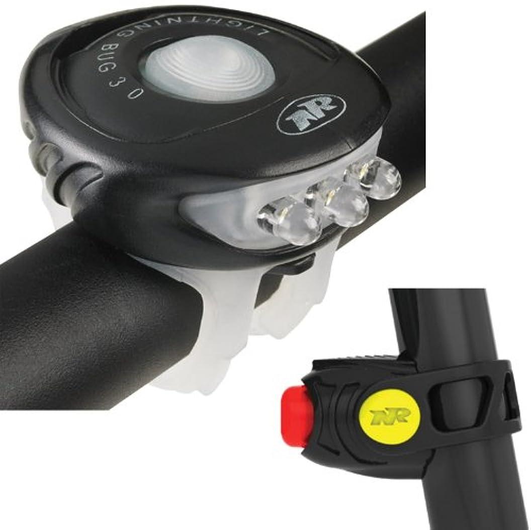 くしゃくしゃ酸度異常なNiteRider Lighting Bug 3.0 LED Front&Stinger Taillight Black