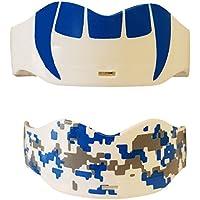 Soldierスポーツ口ガード(2パック)、1サイズ、コバルトブルー/ホワイト