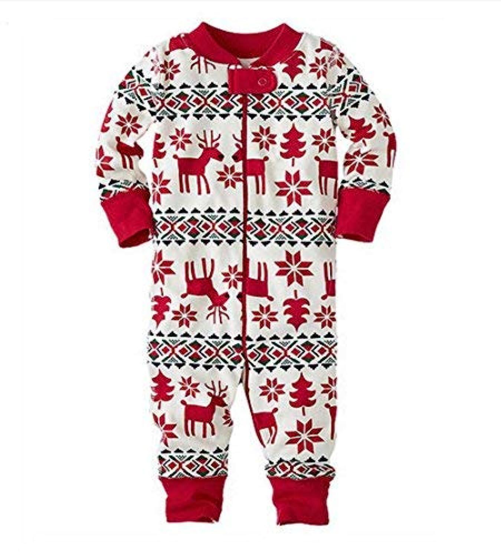 junliuTT ベビー服 クリスマス 衣装 トナカイ ロンパース かわいい 新生児サイズ 男の子 女の子 長袖 カバーオール ワンピース 赤ちゃん あんよしはじめる 0-18ヶ月 (0-3ヶ月)12-18ヶ月