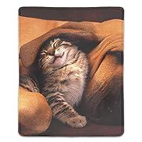 マウスパッド 疲労低減 ワイヤレスマウスパッド 耐久性に優れ 滑り止めゴム底 滑り良い 防水 マウス用パット レーザー&光学式マウス対応 マウス パッド 子猫の友達