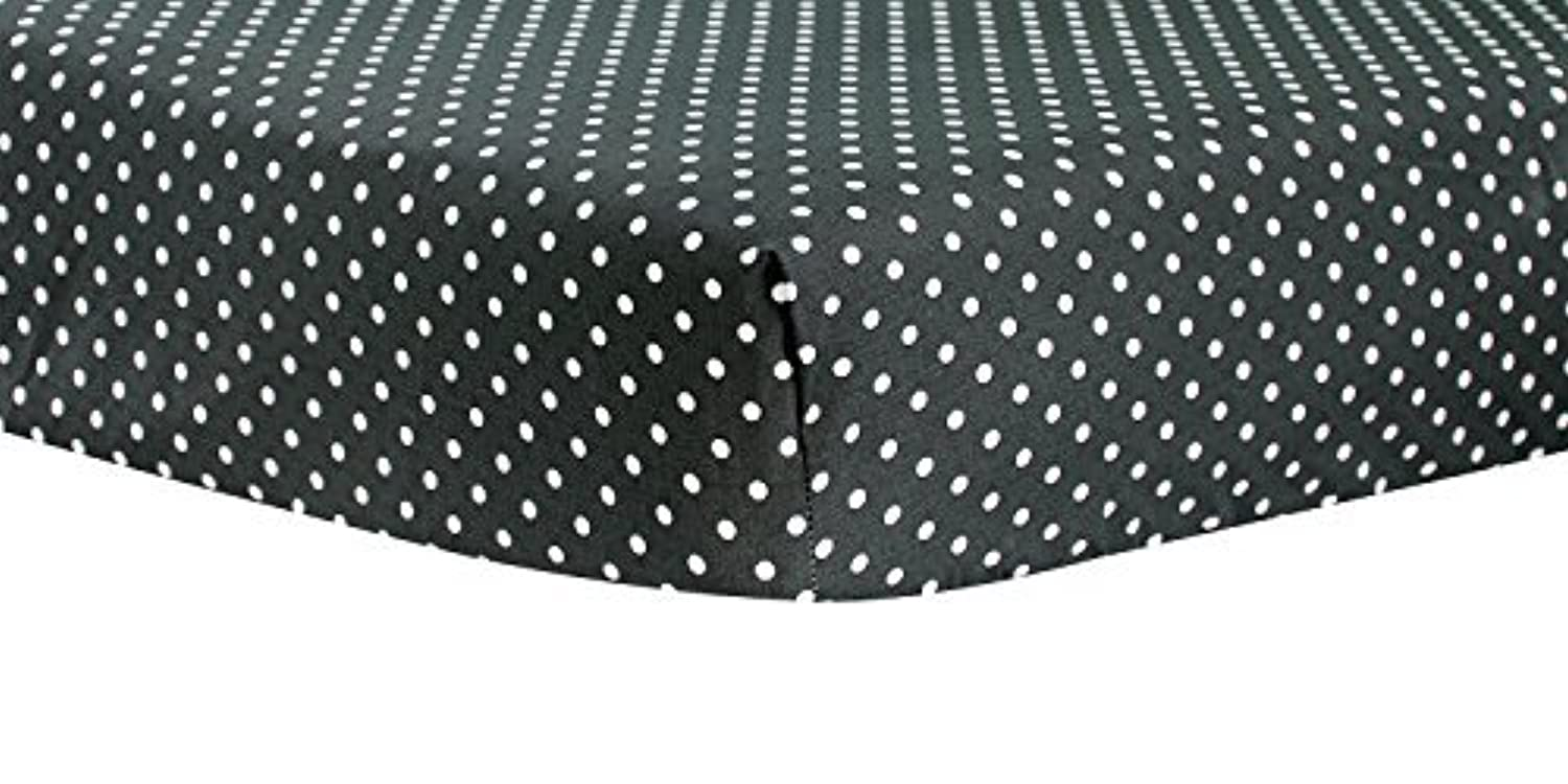 Trend Lab Bedtime Gray Dot Crib Sheet by Trend Lab