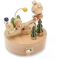 クリスマスツリーミュージカルボックス木製音楽ボックス新しい年Present Xmasギフト木製装飾 SeeSaw 17830-04
