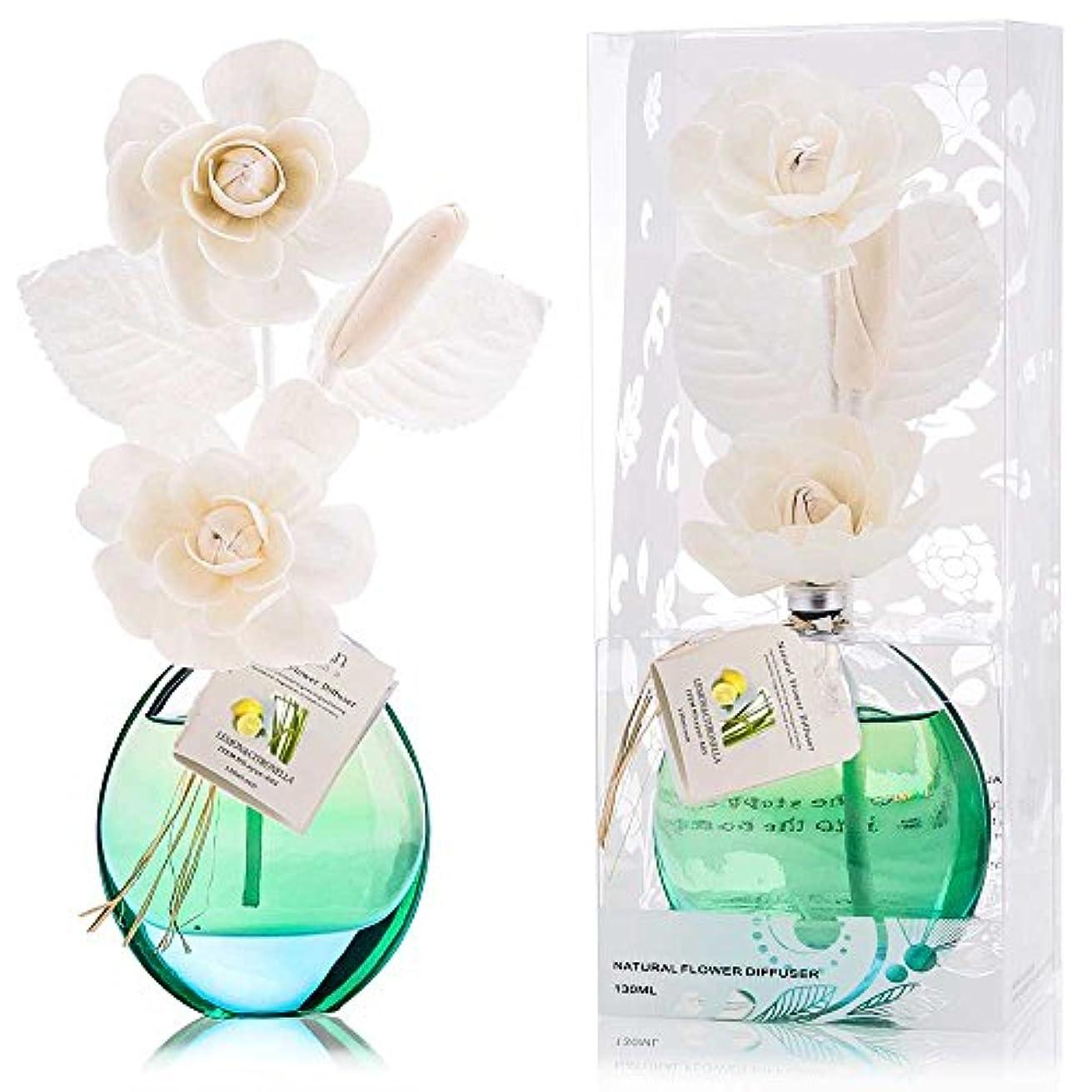 穿孔する債権者上に誕生日 プレゼント に A03 ルームフレグランス (花瓶:緑色、香り:レモン&レモングラス)