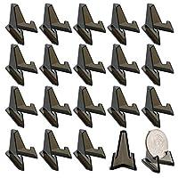 Sumnacon 展示 ディスプレイ スタンド アクリル 陳列棚 コレクション棚 スタンド コレクションラック 卓上 透明 マニキュア コイン バッジ 表彰メダル 収納 ブラック 20個セット